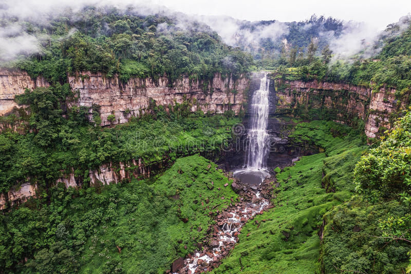 Tequendama Falls near Bogota, Colombia stock photography