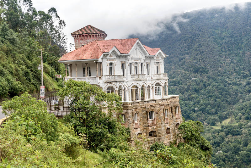 Tequendama Museum at Tequendama Falls near Bogota, Colombia royalty free stock image
