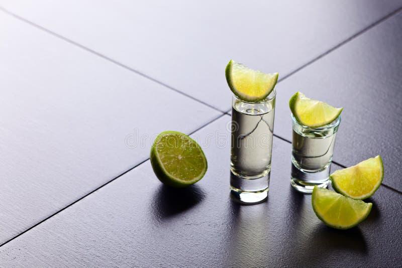 Tequila и известка стоковое изображение