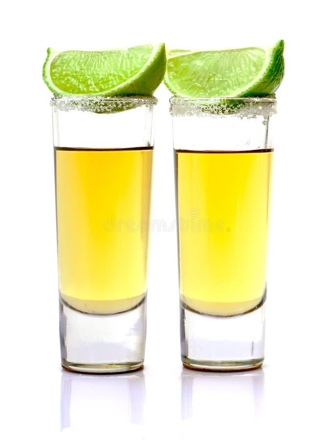 tequila ломтика съемки известки золота стоковое фото rf