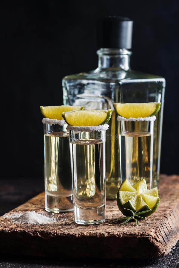 tequila съемки известки стоковое фото