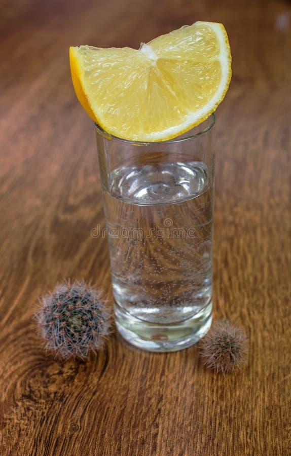 tequila съемки лимона стоковое фото