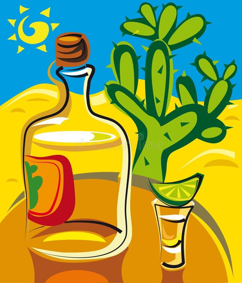 Tequila ilustração stock