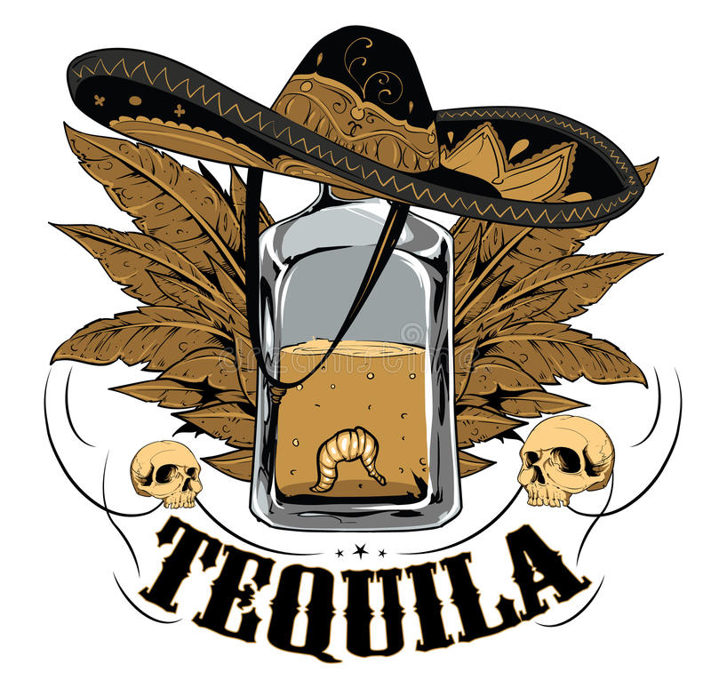 Tequila illustrazione di stock