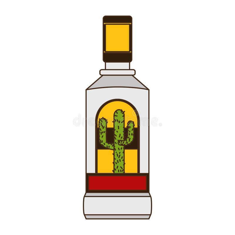 Tequila bottle liquor. On white background vector illustration vector illustration