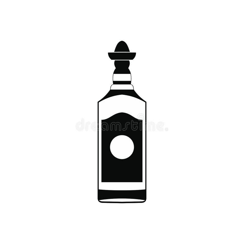 Tequila butelki ikona, prosty styl royalty ilustracja