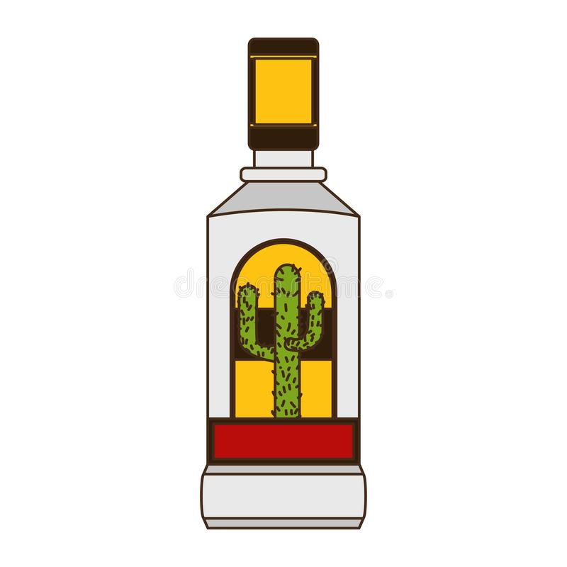Tequila butelki trunek ilustracja wektor