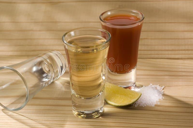 Tequila com Sangrita imagens de stock