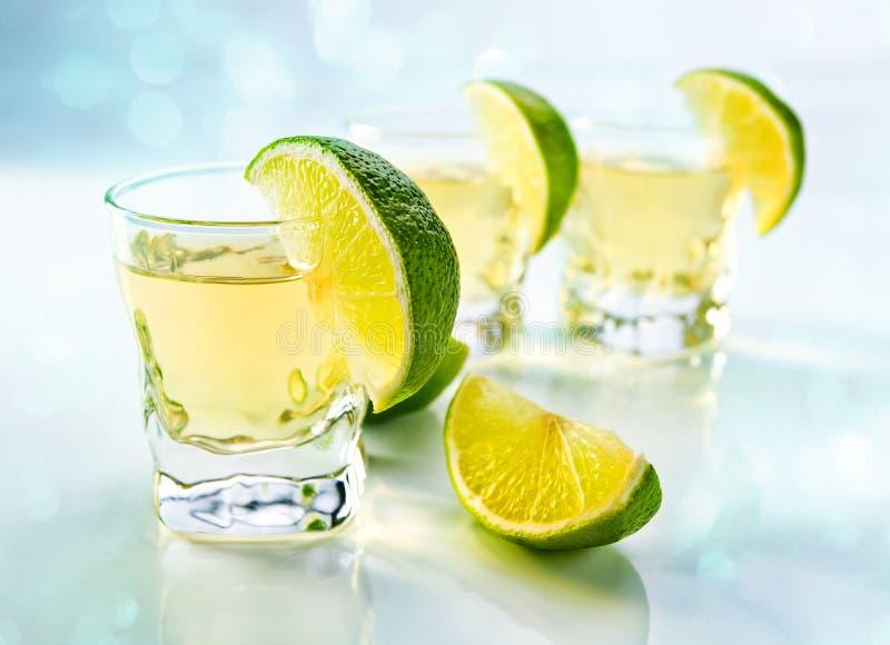 Tequila con la cal fotografía de archivo libre de regalías