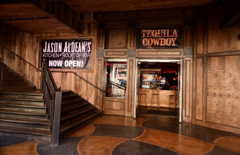 Tequila Cowboy, Nashville, Tennessee. Tequila Cowboy is a place to get a fix for good beer, good food and top notch entertainment. The nightclub is spread over stock photography