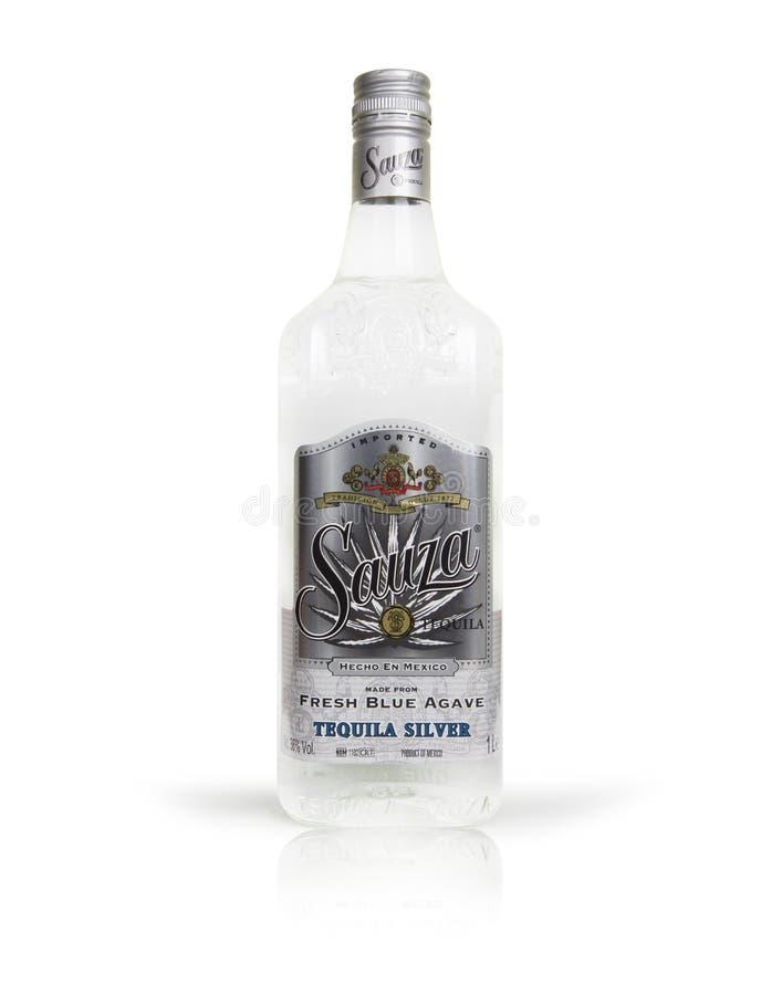 Tequila de Sauza de bouteille photographie stock libre de droits
