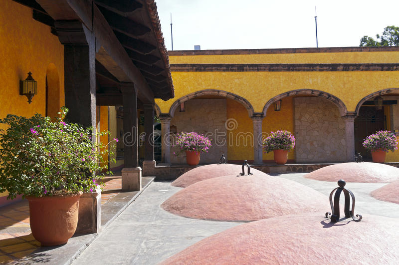 Tequila Distillery Courtyard and Aging Vaults royalty free stock photos