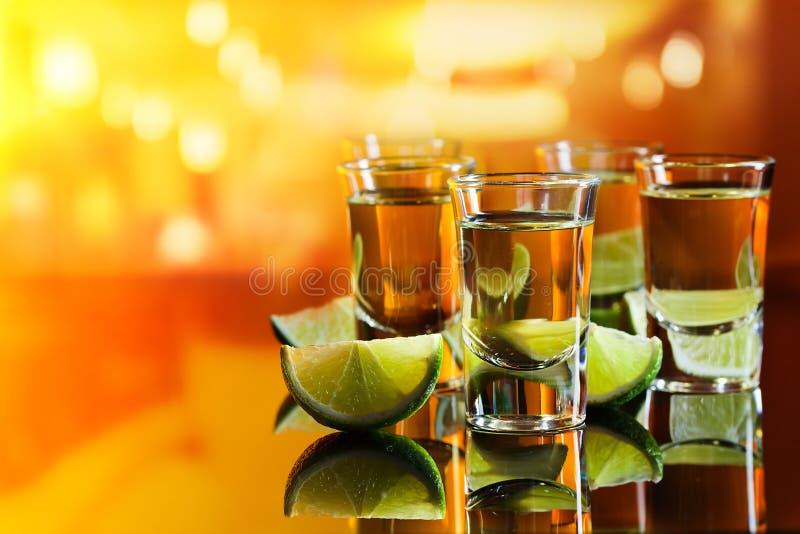 Tequila en kalk royalty-vrije stock afbeelding