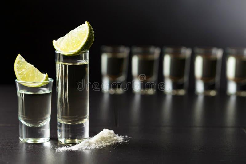 Tequila, kalk en zout royalty-vrije stock fotografie