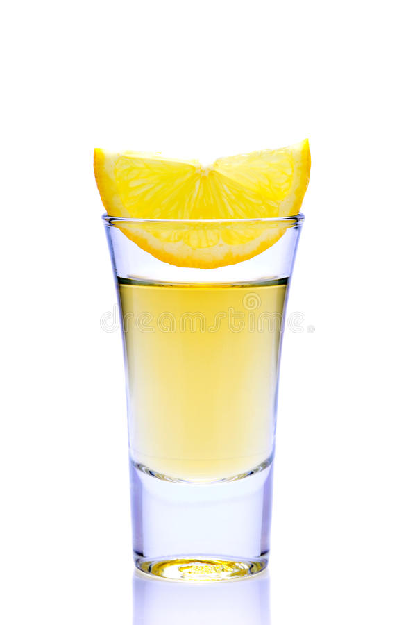 Tequila and lemon royalty free stock photography
