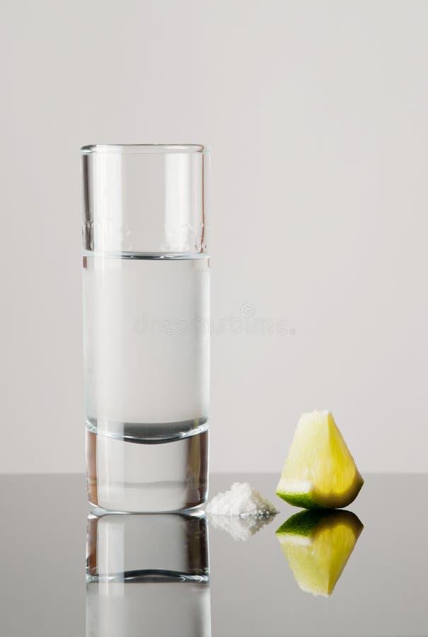 Download Tequila, lemon and salt stock photo. Image of garnish - 26968466
