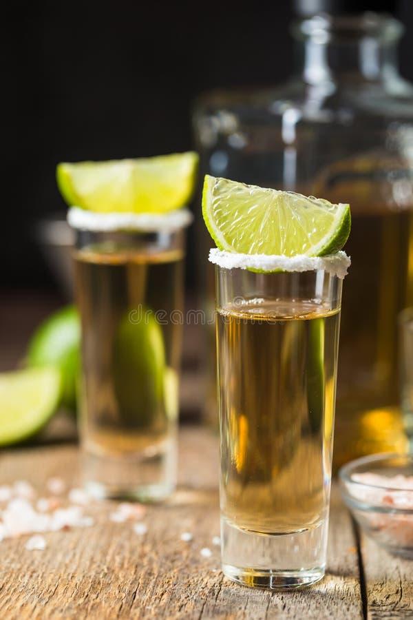 Tequila mexicaine d'or photographie stock libre de droits