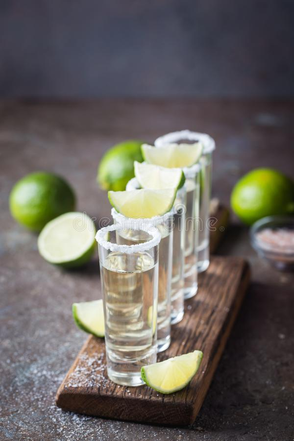 Tequila mexicaine d'or image libre de droits