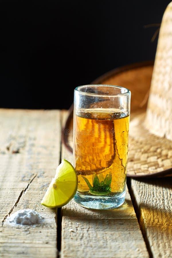 Tequila och citron royaltyfria foton