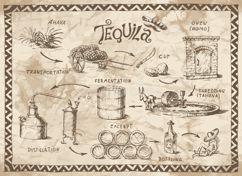 Tequila project stock illustration