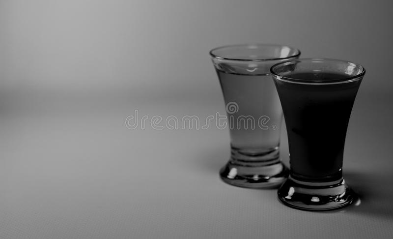 Tequila and sangrita shot glass royalty free stock photography