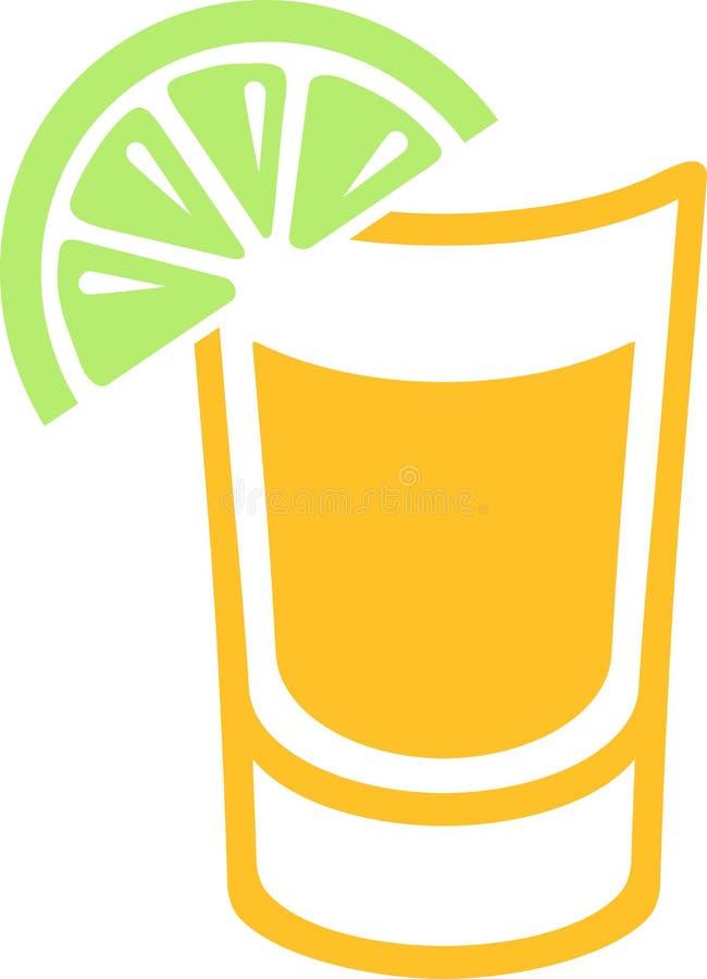 Tequila shot icon royalty free illustration