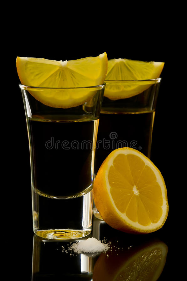 Tequila shots royalty free stock photos