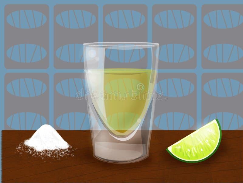 Tequila slammer lizenzfreie stockbilder