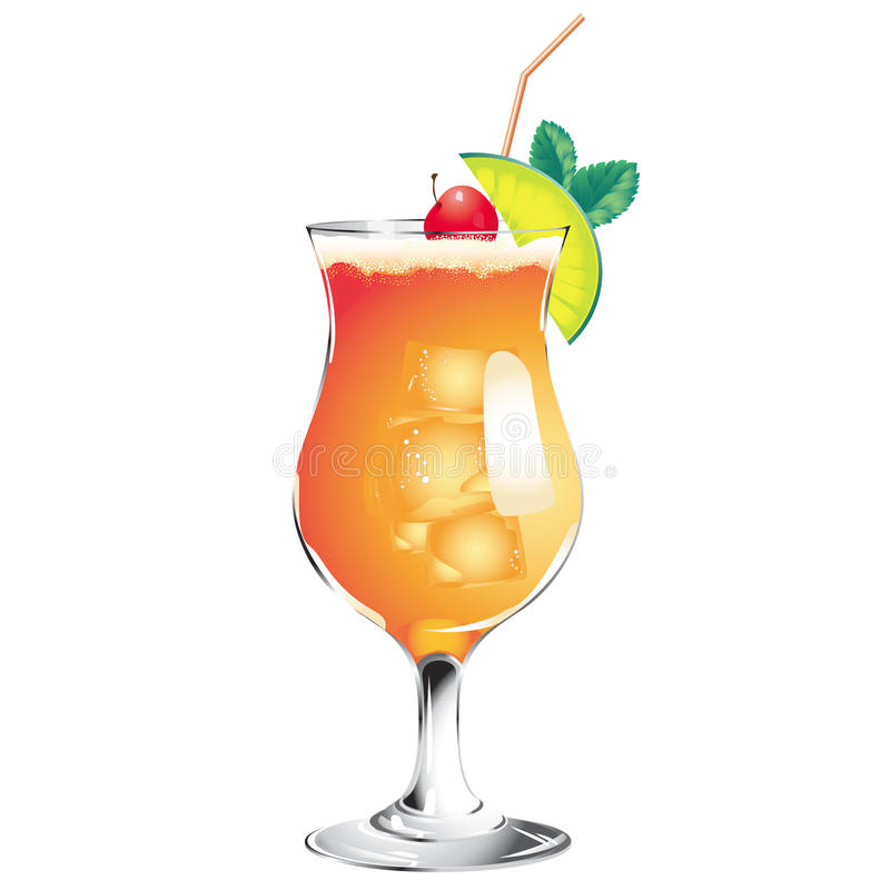 Download Tequila Sunrise cocktail stock vector. Image of straw - 20791340