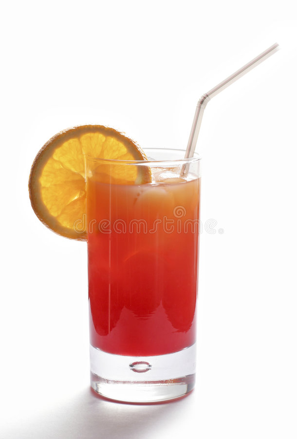 The Tequila Sunrise cocktail royalty free stock photo