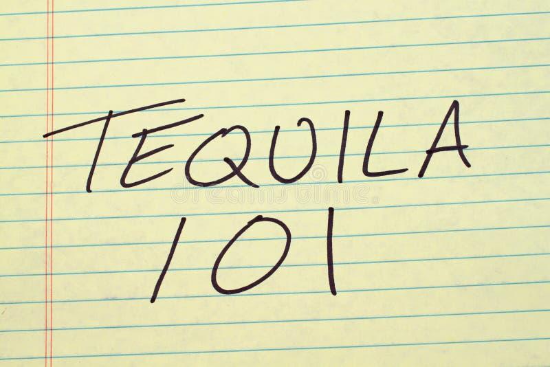 Tequila 101 sur un tampon jaune image libre de droits