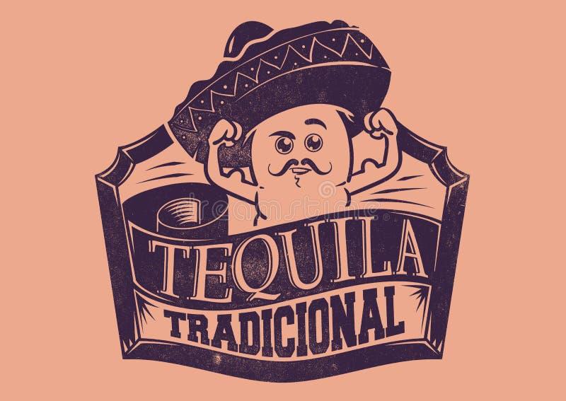 Tequila Tradicional ilustracja wektor