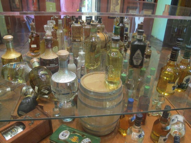 Tequilas und mehr Tequilas in Mexiko stockfotos