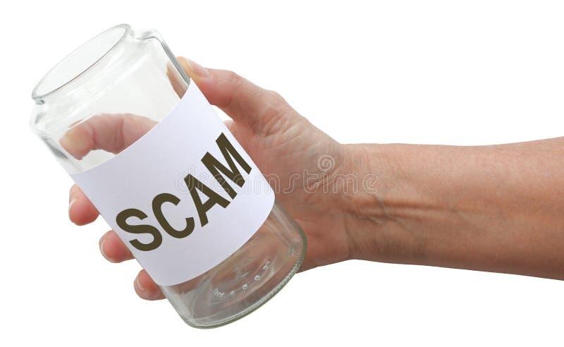 Ter cuidado com os scammers que pedem o dinheiro imagens de stock royalty free