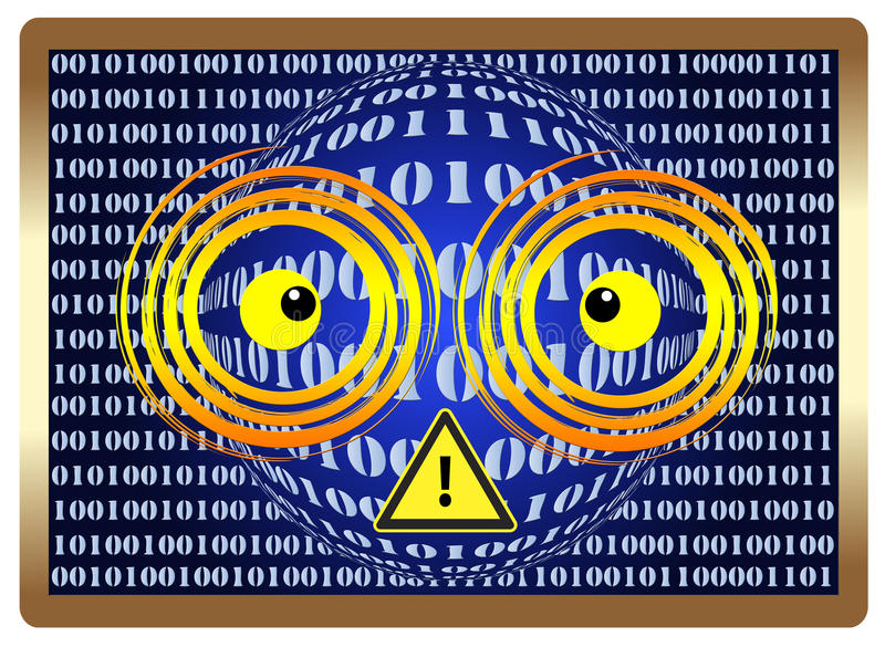Ter cuidado com a visão de computador Syndrom ilustração do vetor