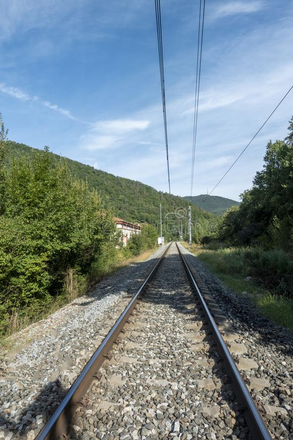 The ter route through the interior of Girona. Spain royalty free stock image