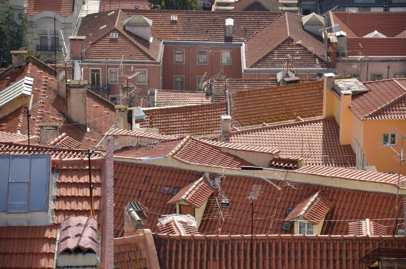 Terakota taflujący dachy zdjęcie royalty free