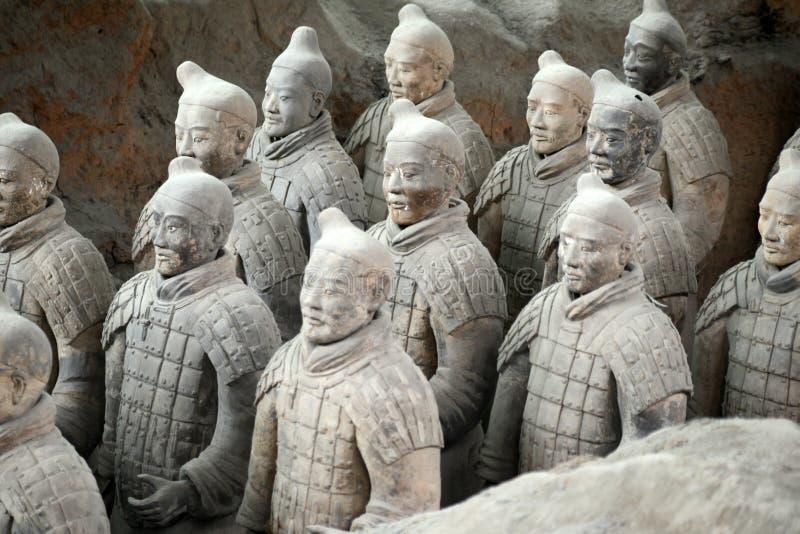 Terakotowi wojownicy w Xian, Chiny obrazy stock