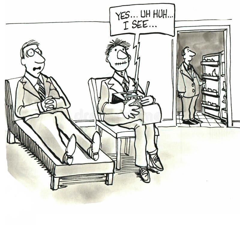 Terapeut royaltyfri illustrationer