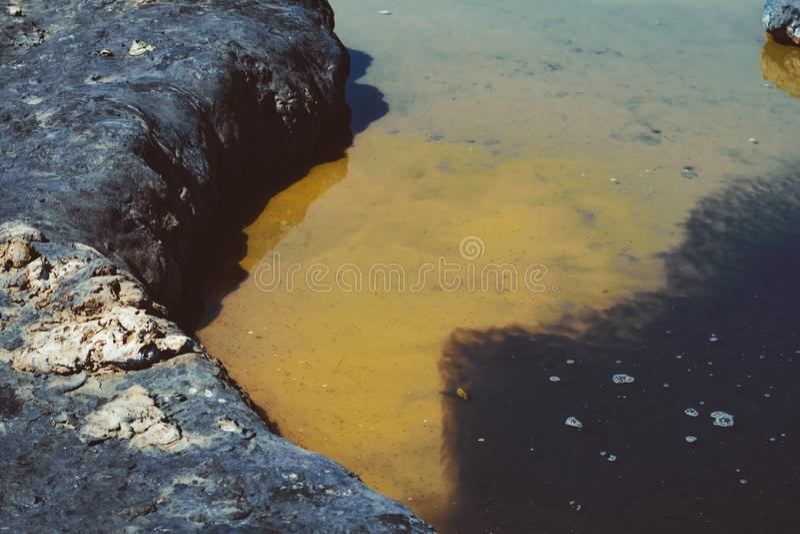 Terapeutisk gyttja i sjön arkivbild