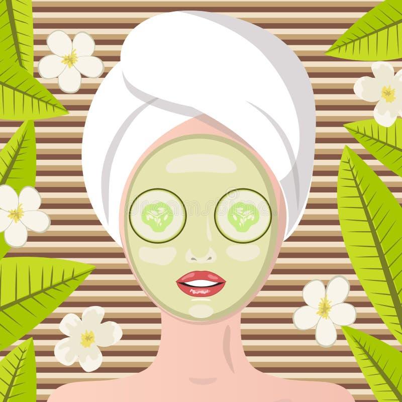 terapi för brunnsort för petals för ben för blomma för bakgrundsbunkegolv royaltyfri illustrationer