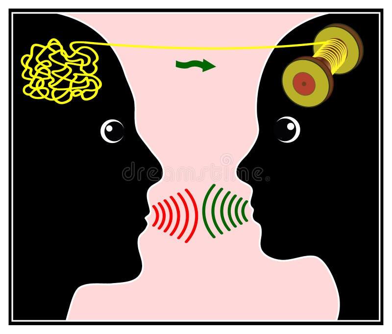 Terapia da conversa ilustração do vetor