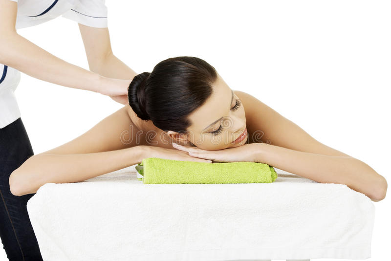 Terapia da massagem foto de stock royalty free
