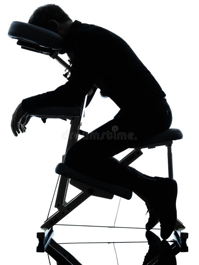 Terapia da massagem com cadeira fotografia de stock
