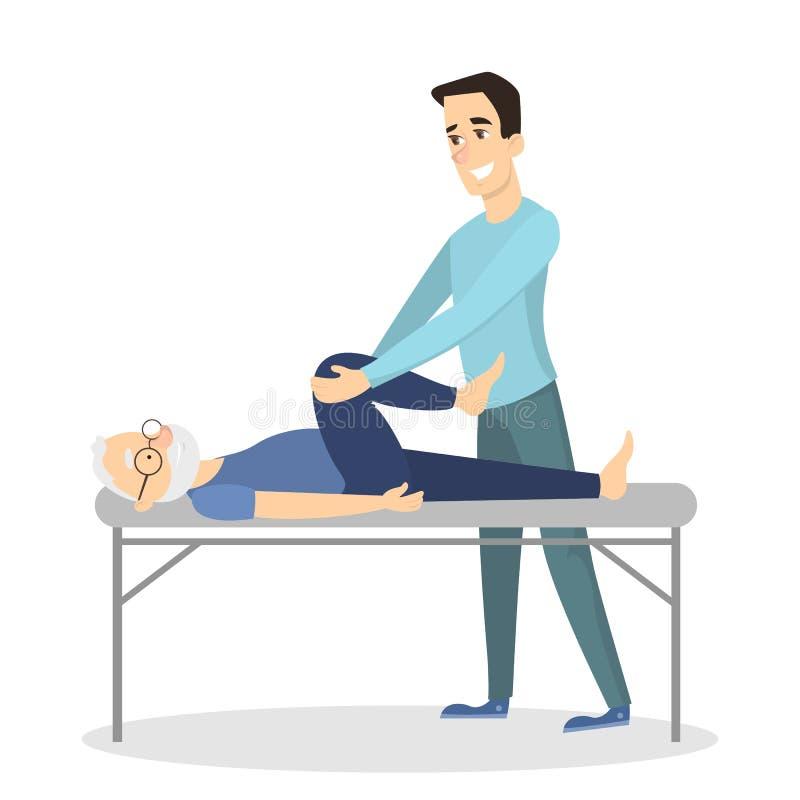 Terapia da massagem com homem ilustração royalty free