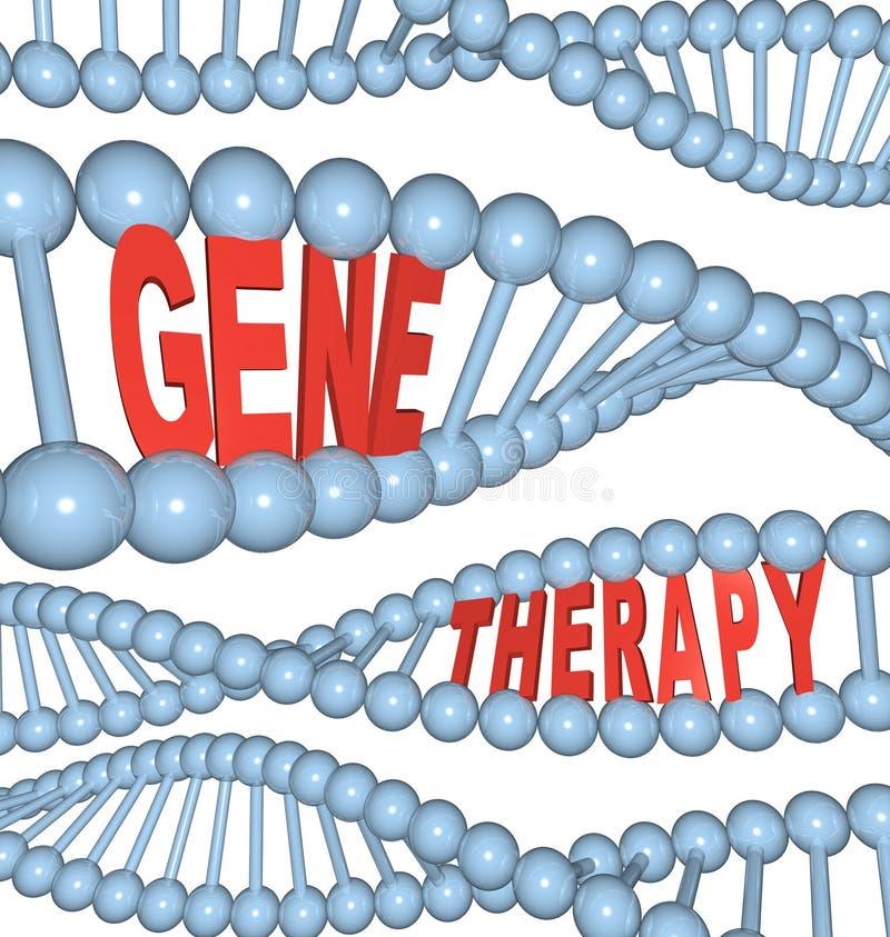 Terapia de gene - palavras no ADN ilustração do vetor