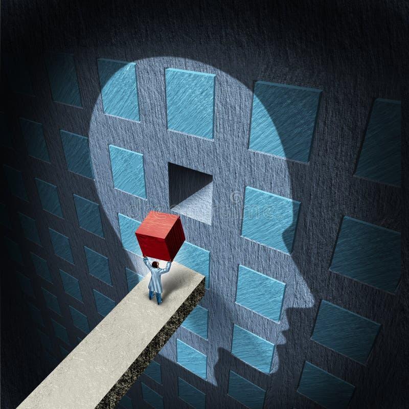 Terapia de la psicología stock de ilustración