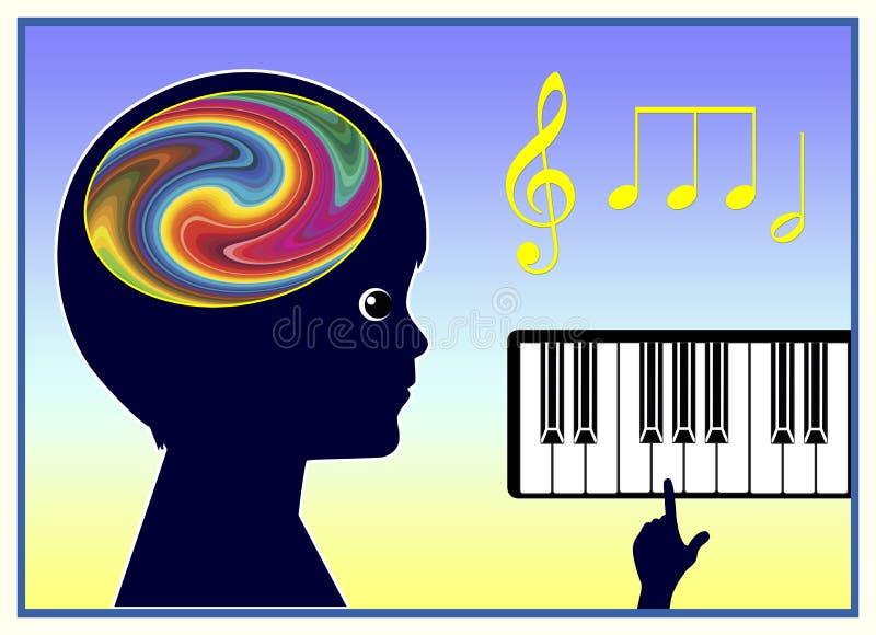 Terapia de música ilustração stock