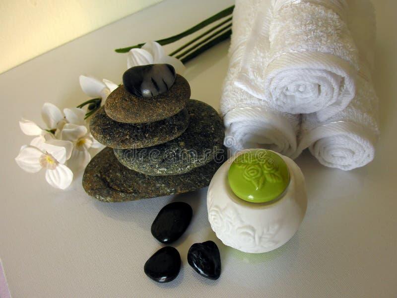 Terapia de pedra foto de stock