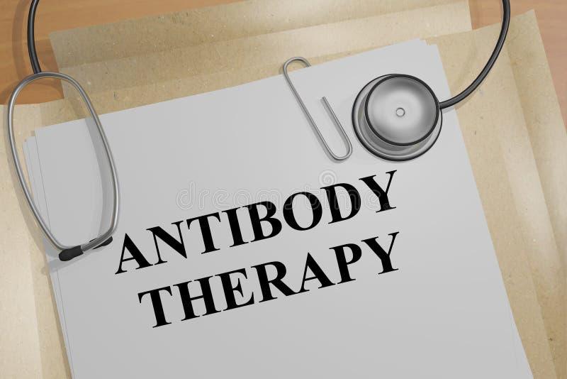 Terapia del anticuerpo - concepto médico stock de ilustración